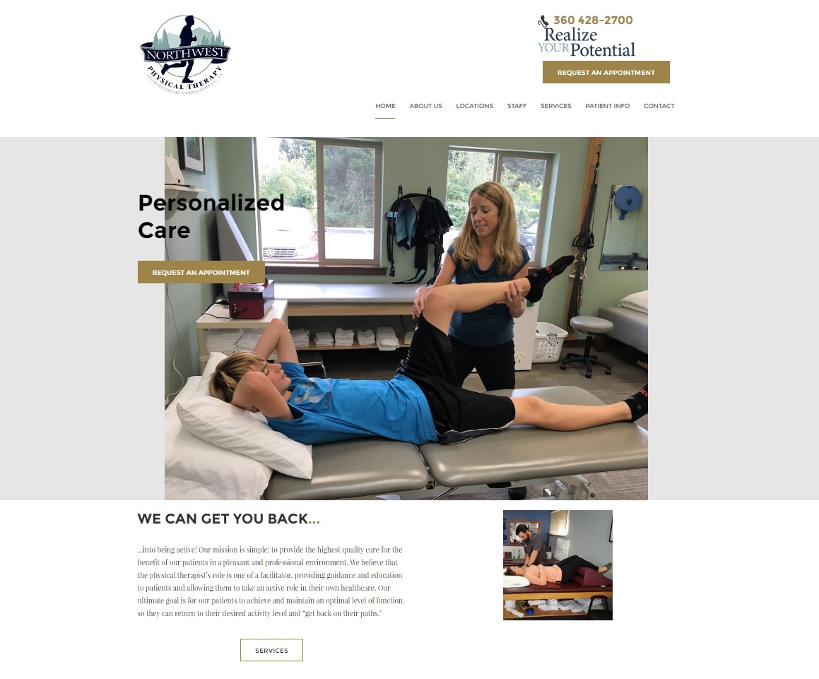 Physical Therapy Northwest Is A Chain Of Three Clinics In Washington State I Built This Site As Part My Job At Skagit Connext